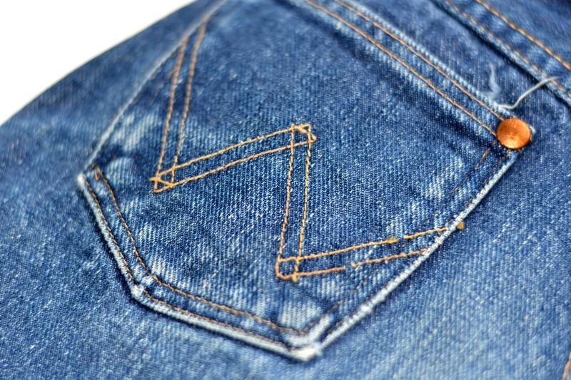 wrangler blue bell jeans long john blog denim blue indigo vintage original usa made left hand fabric original 5 pocket (1)