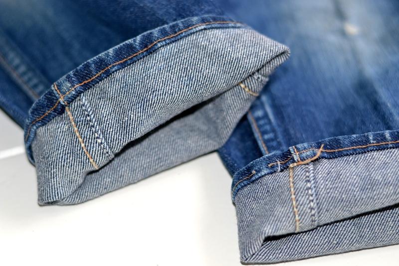 wrangler blue bell jeans long john blog denim blue indigo vintage original usa made left hand fabric original 5 pocket (2)