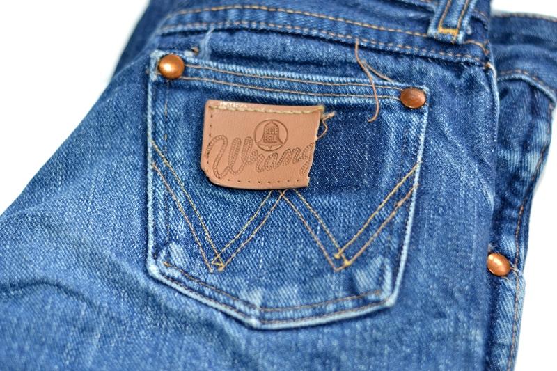wrangler blue bell jeans long john blog denim blue indigo vintage original usa made left hand fabric original 5 pocket (3)