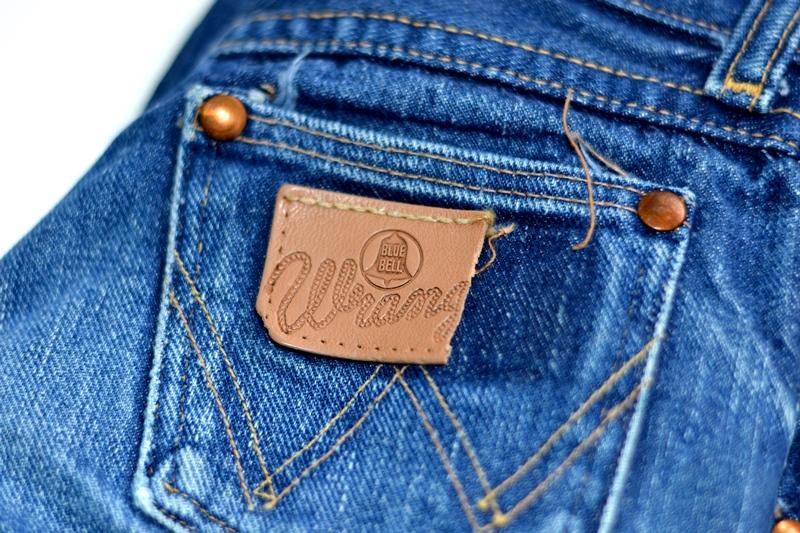 wrangler blue bell jeans long john blog denim blue indigo vintage original usa made left hand fabric original 5 pocket (4)