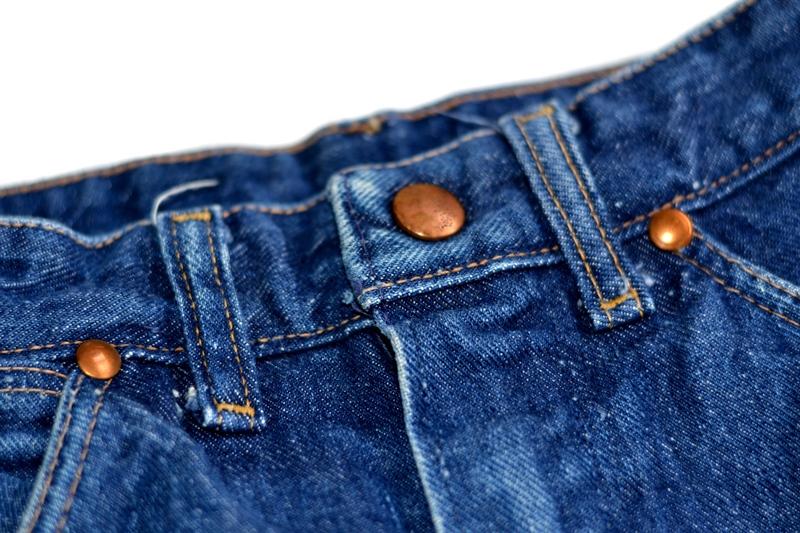 wrangler blue bell jeans long john blog denim blue indigo vintage original usa made left hand fabric original 5 pocket (6)