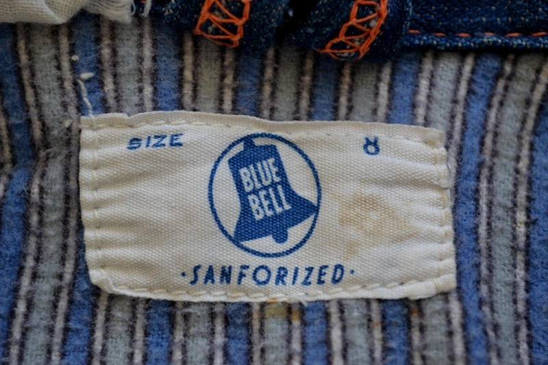 wrangler blue bell kids jacket jack long john blog rigid selvage yellow lined right hand fabric button c8 worn-out vintage treasure 1960 1970 usa america rare item (8)
