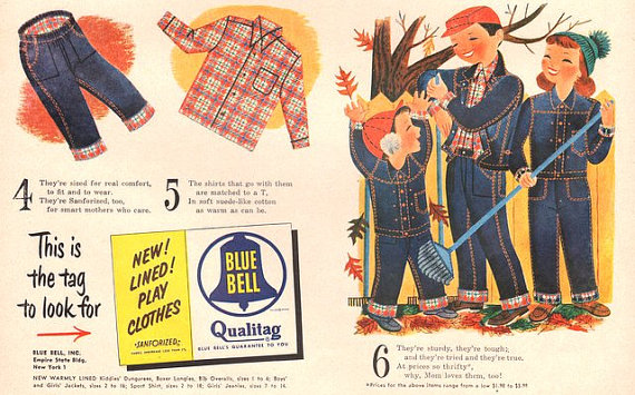 wrangler blue bell long john posters vintage usa denim jeans jean advertising cowboy pants rodeo 1950 broken twill blue rigid raw selvage selvage red line  (1)