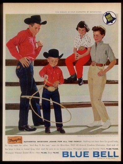 wrangler blue bell long john posters vintage usa denim jeans jean advertising cowboy pants rodeo 1950 broken twill blue rigid raw selvage selvage red line  (4)