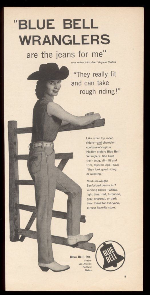 wrangler blue bell long john posters vintage usa denim jeans jean advertising cowboy pants rodeo 1950 broken twill blue rigid raw selvage selvage red line  (5)