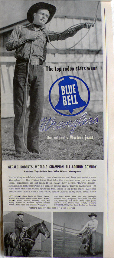 wrangler blue bell long john posters vintage usa denim jeans jean advertising cowboy pants rodeo 1950 broken twill blue rigid raw selvage selvage red line  (6)